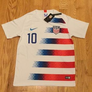 2018 USA Pulisic Soccer Jersey Home #10